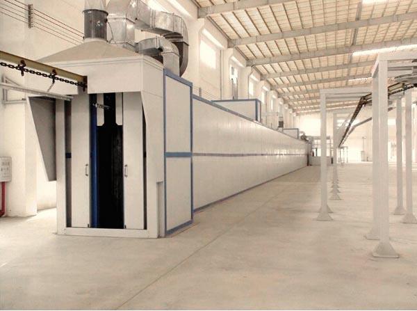 工业烤箱配置有热风循环系统及温度测量与控制系统.